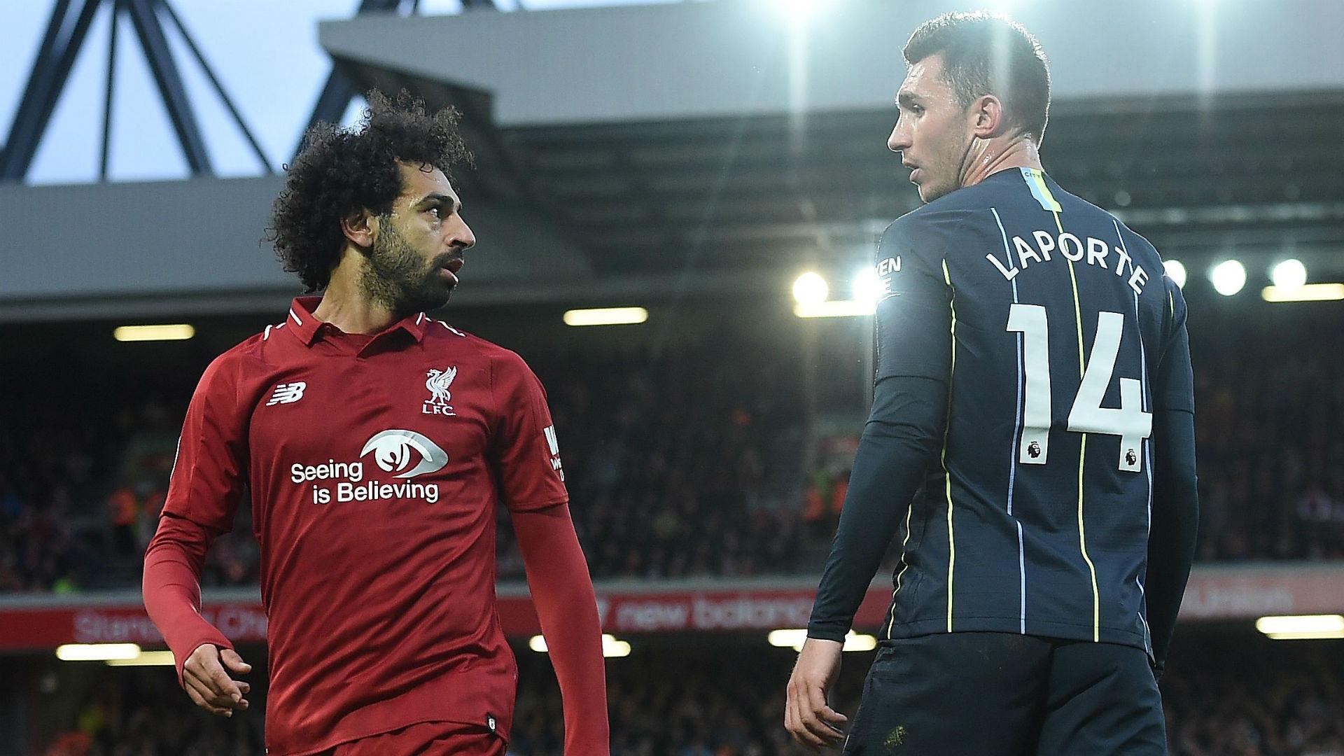 Mohamed Salah Liverpool Aymeric Laport Manchester City