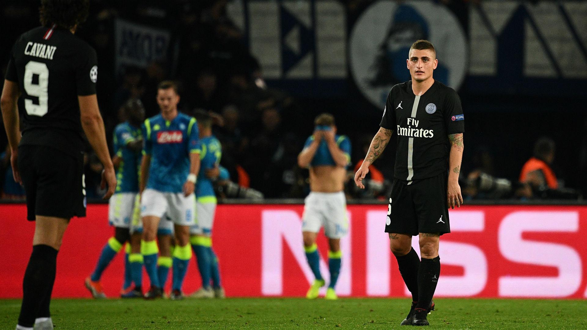 Marco Verratti PSG Napoli UEFA Champions League 24102018