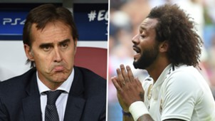 Julen Lopetegui Marcelo Real Madrid 2018