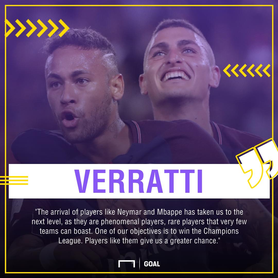 GFX Info Marco Verratti Neymar Mbappe Paris Saint-Germain