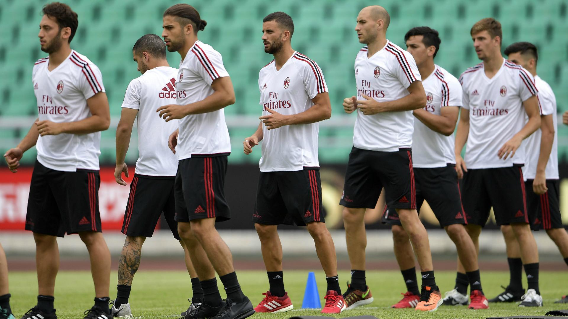 Milan training