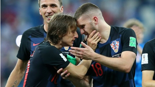 Luka Modric Ante Rebic Croatia World Cup 01072018