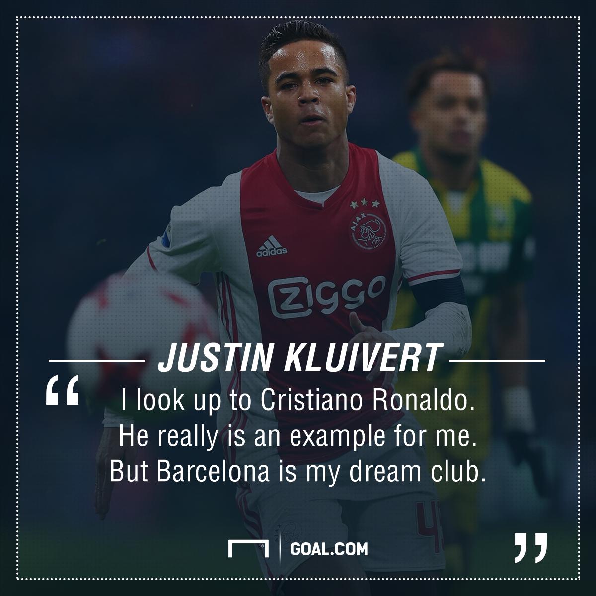 Justin Kluivert Ronaldo Barcelona PS