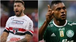 Pratto e Borja - São Pualo e Palmeiras - 4/04/2017