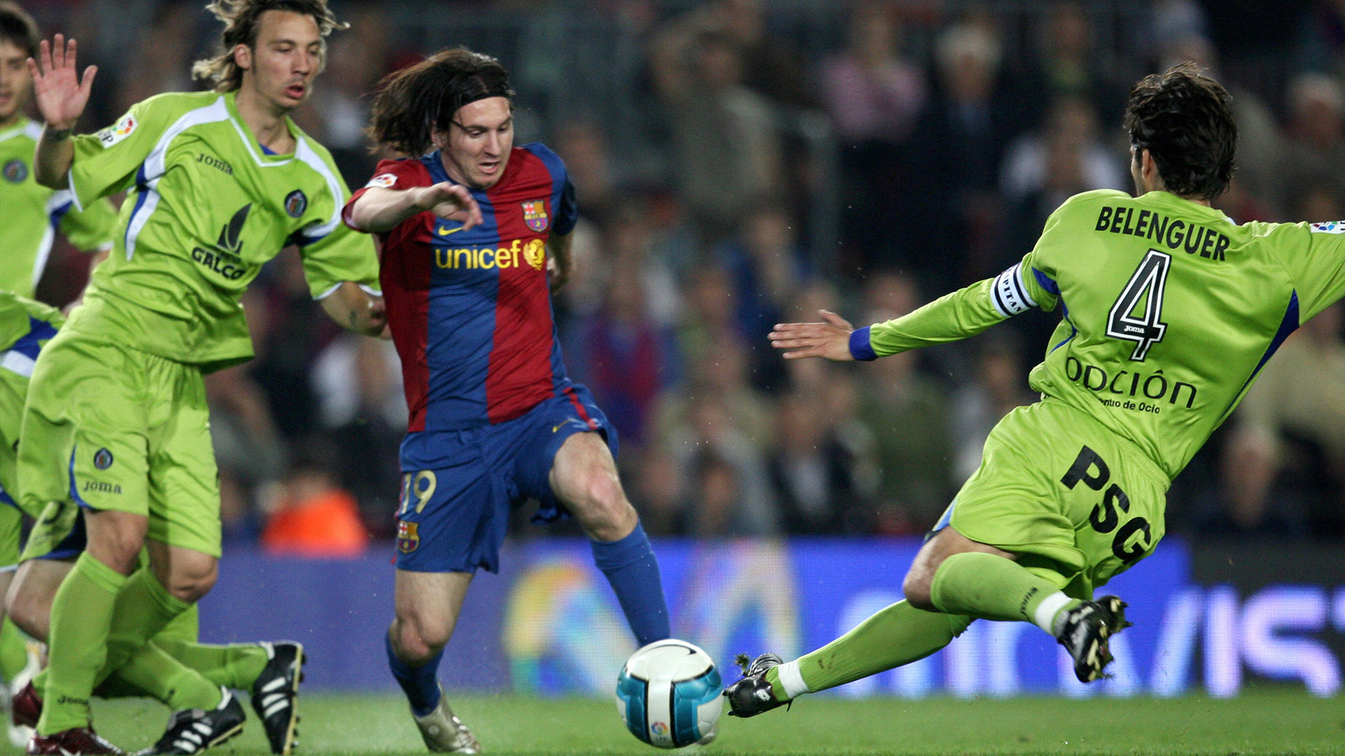 Messi on a run against Getafe