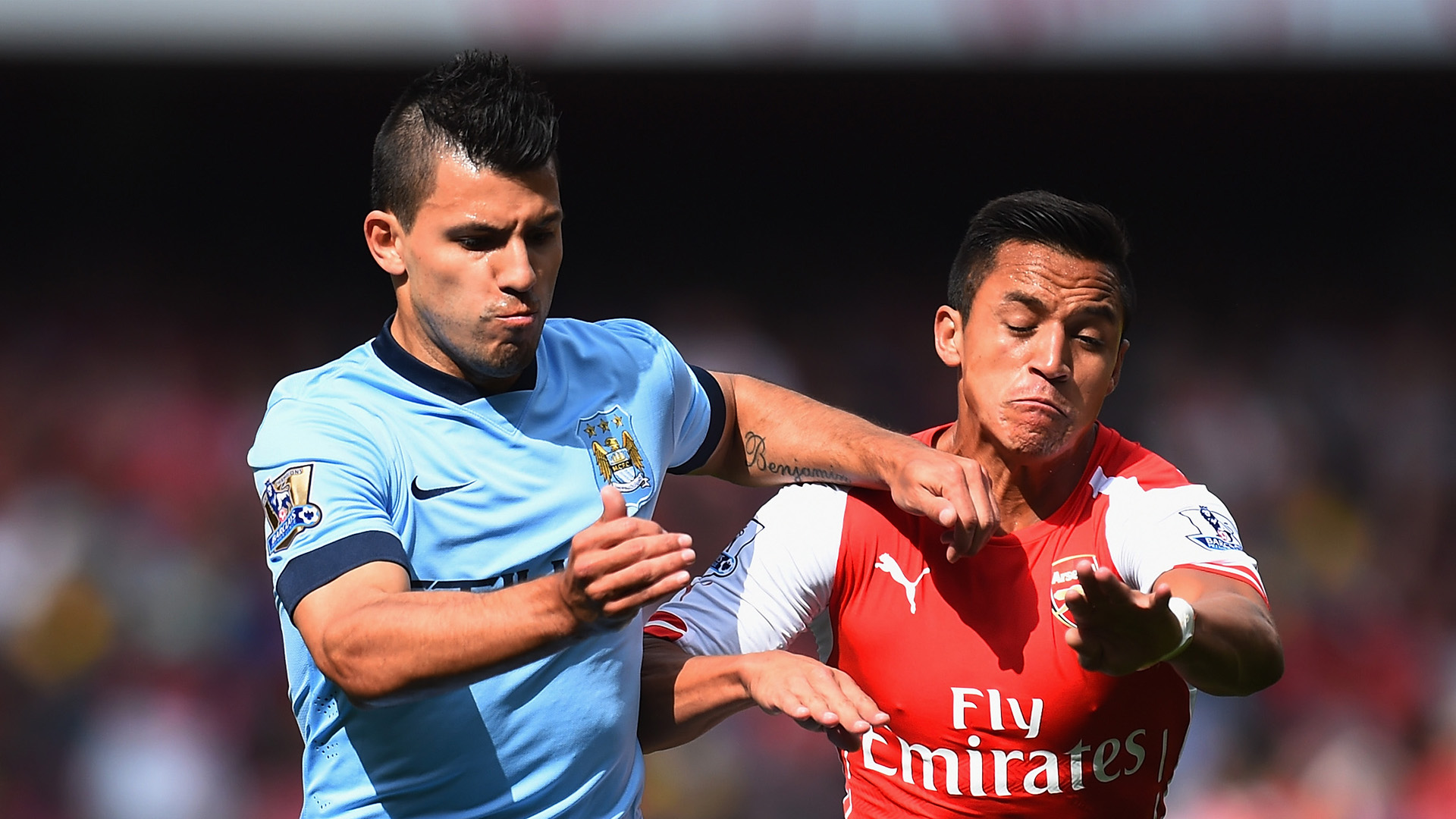 Sergio Aguero Alexis Sanchez September 2014