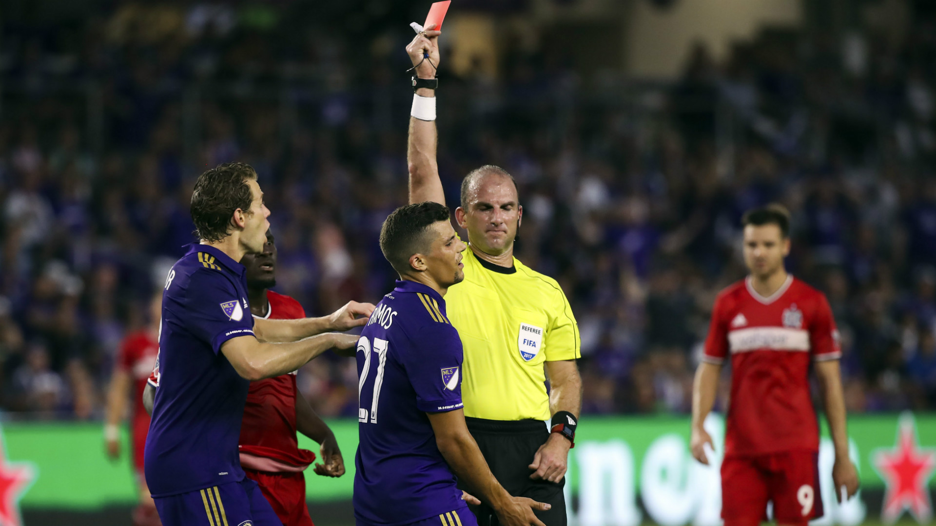 Rafael Ramos Orlando City Referee Ted Unkel