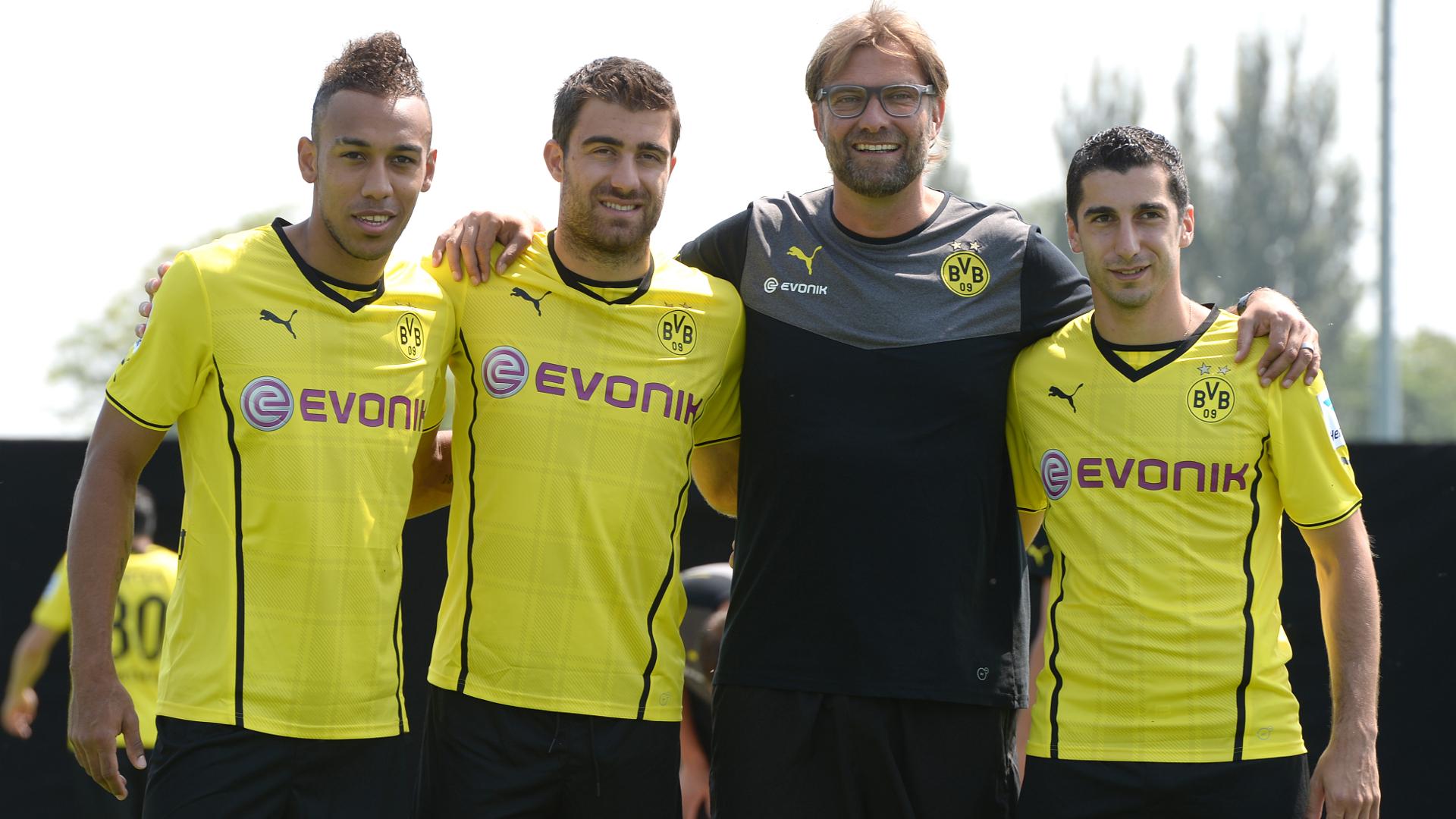 Jurgen Klopp Aubameyang Sokratis Mkhitaryan Dortmund