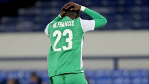 Francis Mustapha of Gor Mahia v Everton.