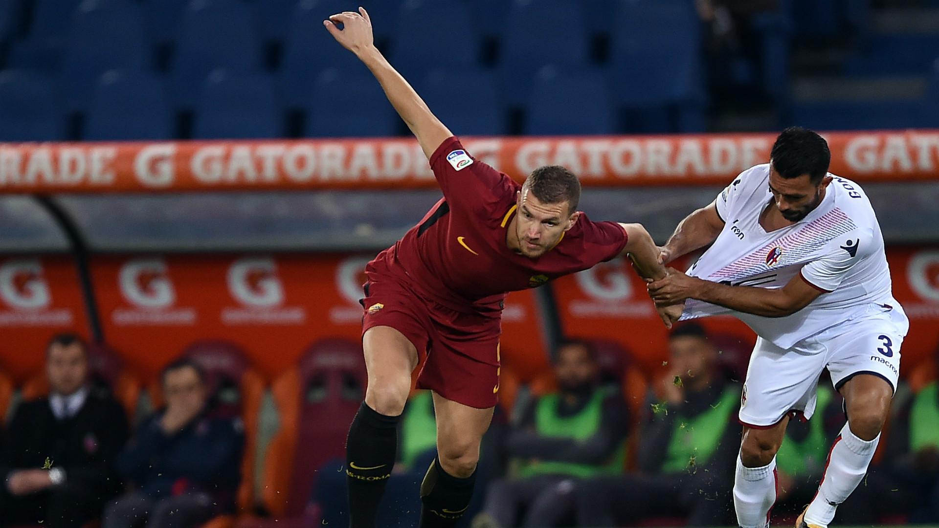 Edin Dzeko Giancarlo Gonzalez Roma Bologna Serie A