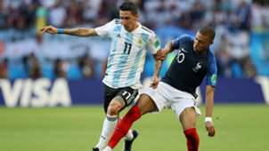 Di Maria Mbappe Argentina France World Cup Russia 2018