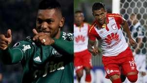 Miguel Borja Wilson Morelo Palmeiras Santa Fe Copa Libertadores 2018