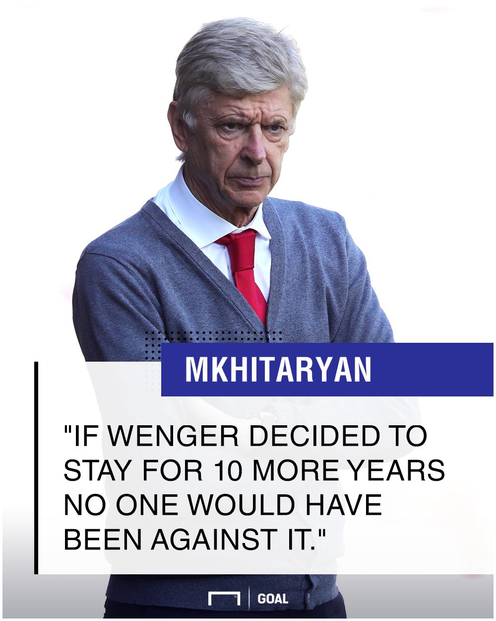 Mkhitaryan on Wenger