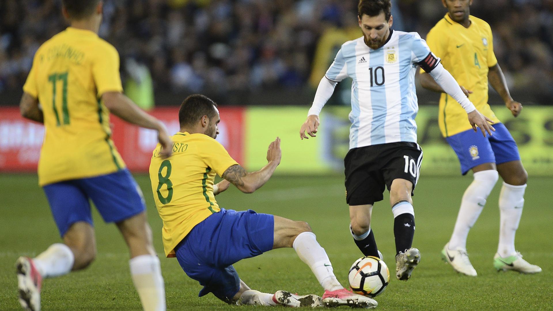 Renato Augusto Brasil Messi Argentina - Brasil x Argentina 09 06 17