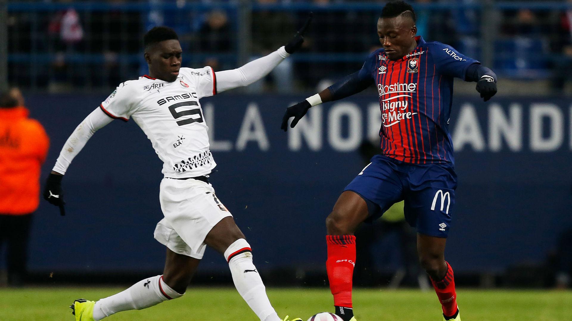 Ismaila Sarr Casimir Ninga Caen Rennes Ligue 1 03112018