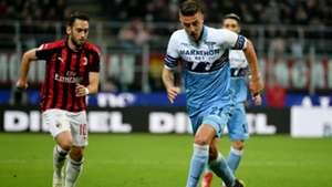 Hakan Calhanoglu Lucas Leiva Milan Lazio