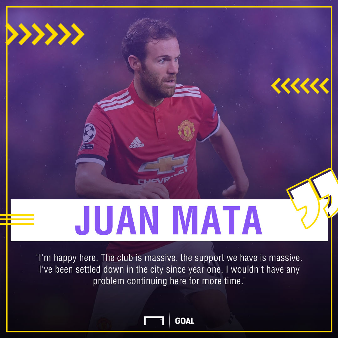 Juan Mata Manchester United contract