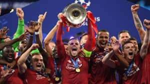 Liverpool celebrate vs Tottenham, Champions League final 2018-19