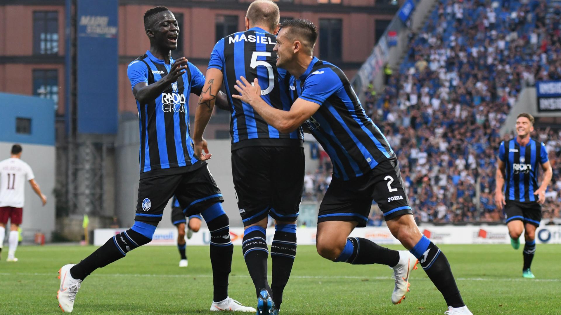Atalanta celebrating Atalanta Sarajevo Europa League