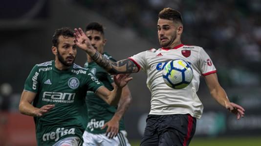 Felipe Vizeu Edu Dracena Palmeiras Flamengo Brasileirao Serie A 13062018
