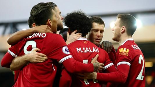 Liverpool celebrate v Spurs