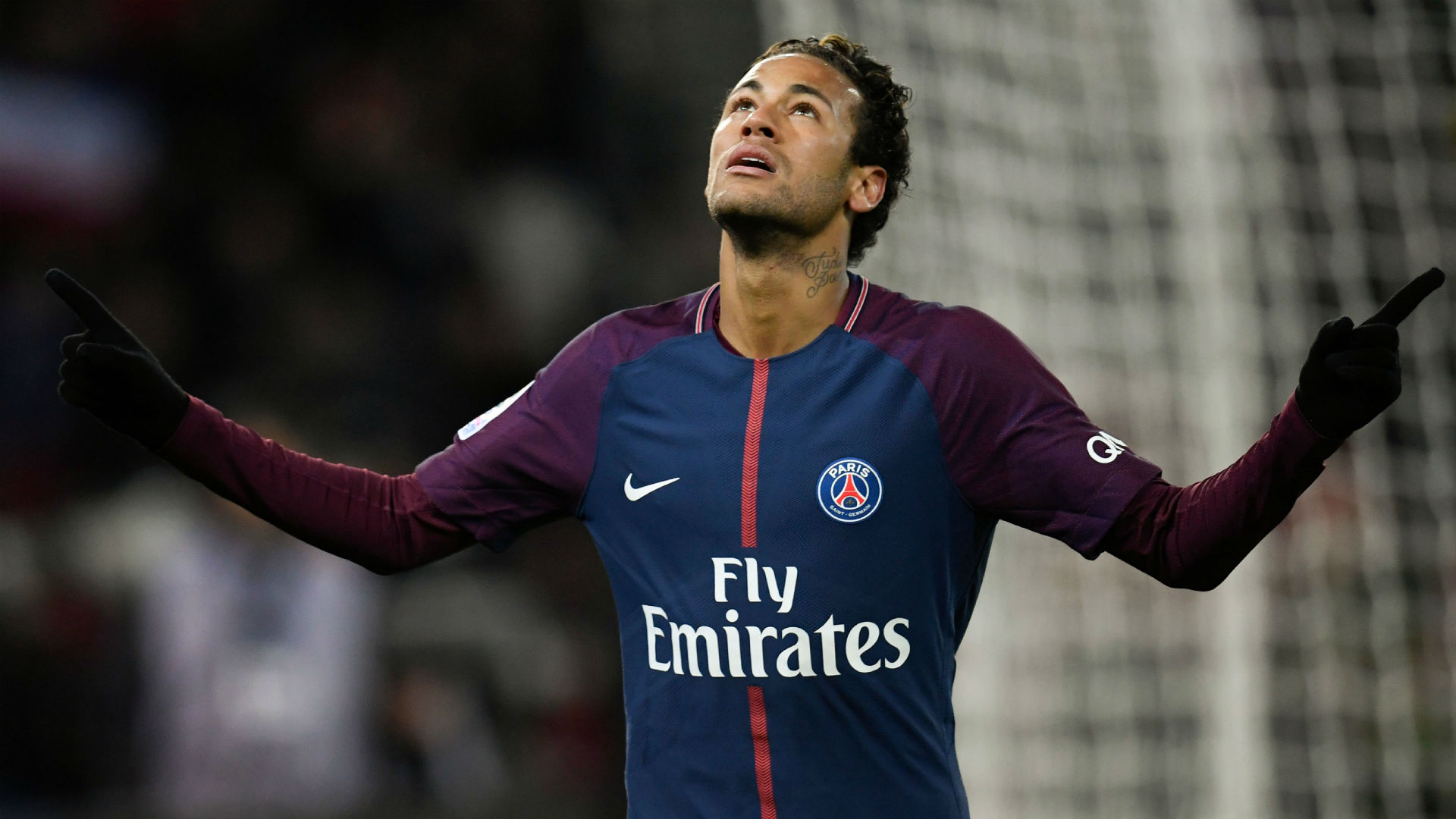 Neymar hits four, Cavani matches record as PSG crush Djion