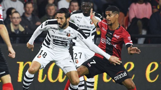 Morgan Amalfitano Ludovic Blas Guingamp Rennes Ligue 1 14102017