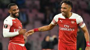 Aubameyang Lacazette Napoli Arsenal Europa League