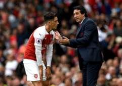 Mesut Ozil Unai Emery Arsenal Manchester City Premier League 08/12/18