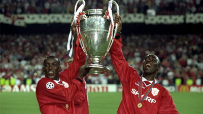 Dwight Yorke Manchester United Champions League 1999