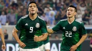Raúl Jiménez Hirving Lozano Selección mexicana 070918