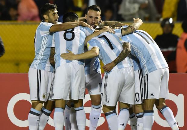 festejo argentino Ecuador Argentina Eliminatorias 10102017