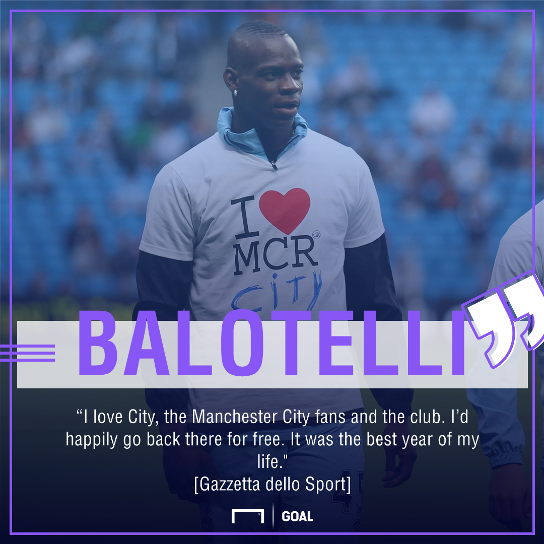 Mario Balotelli Manchester City play for free