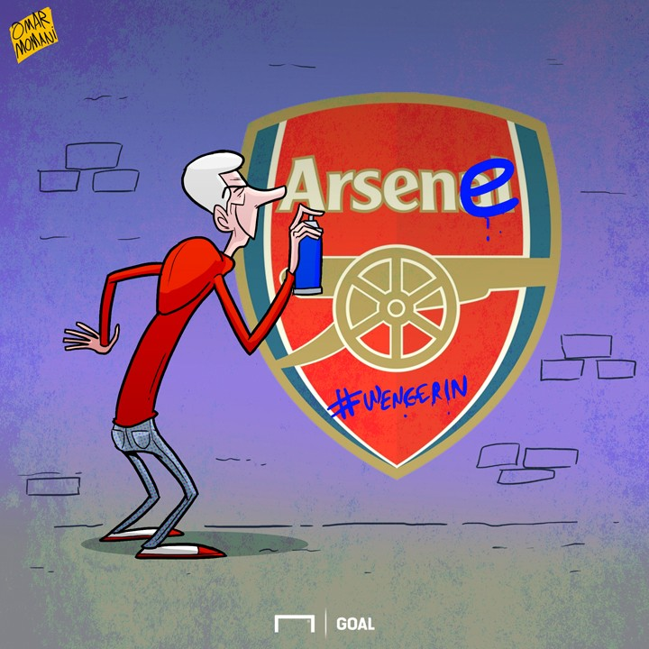 Cartoon Wenger the graffiti artist May 31