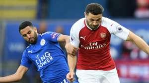 Riyad Mahrez Sead Kolasinac Leicester City Arsenal 2017-18