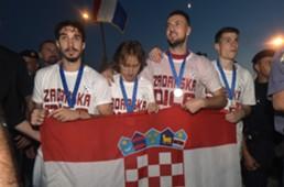 croatia - zadar - sime vrsaljko luka modric danijel subasic dominik livakovic - welcome party - 17072018