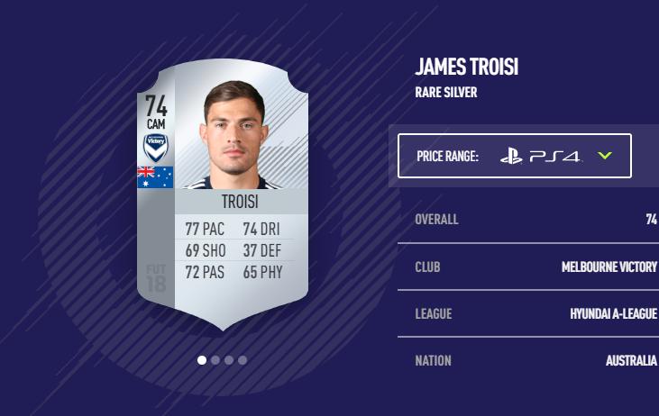 James Troisi FIFA 18