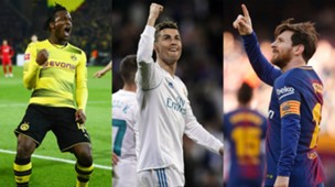 Collage Batshuayi Ronaldo Messi