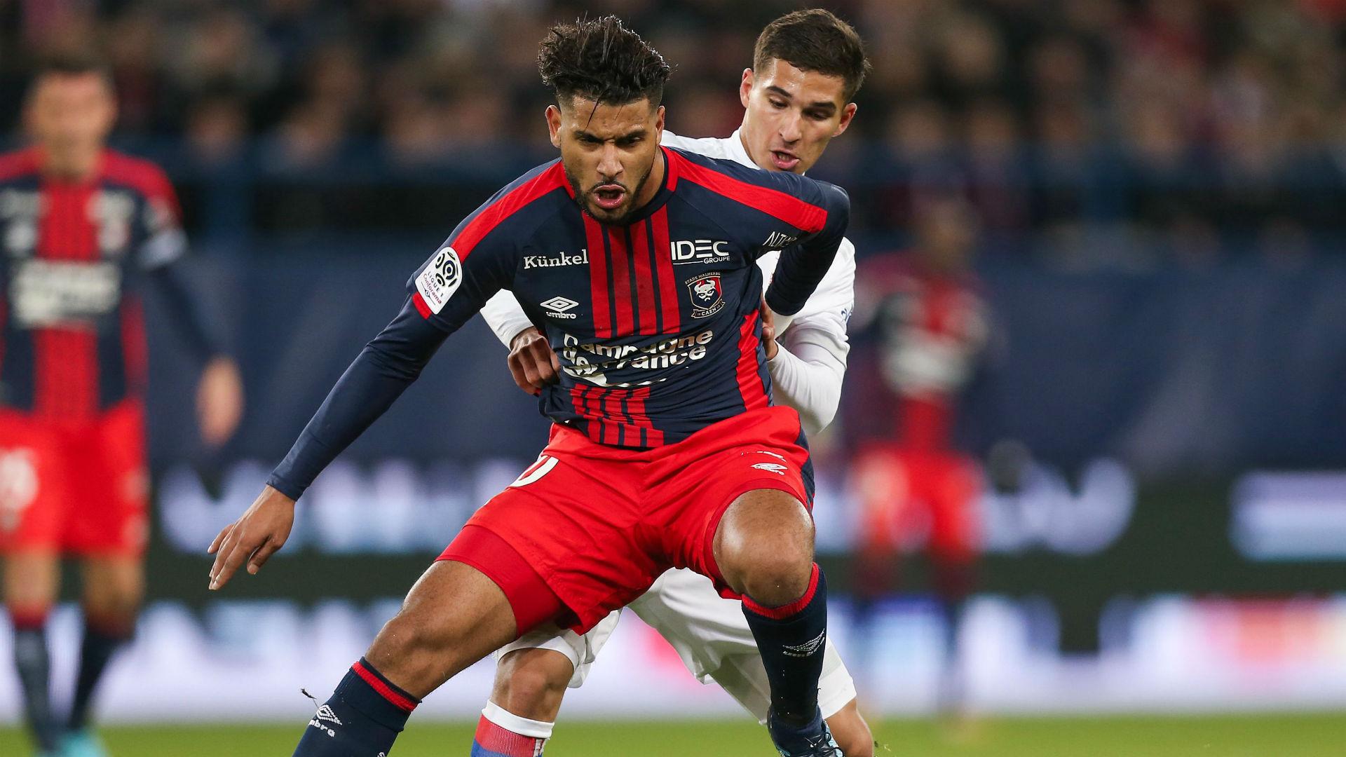 Youssef Ait Bennasser Houssem Aouar Caen Ligue 1 03122017