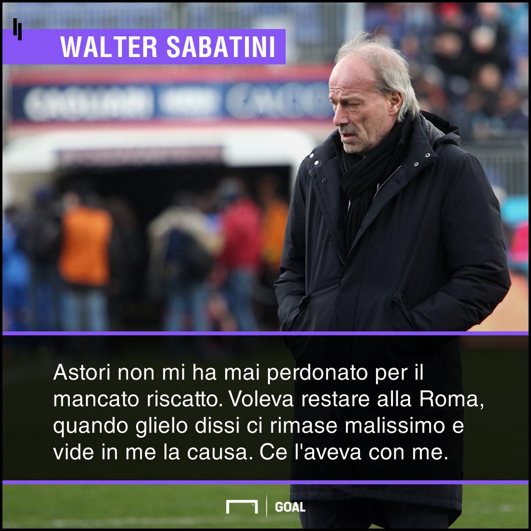 Sabatini commovente su Astori:
