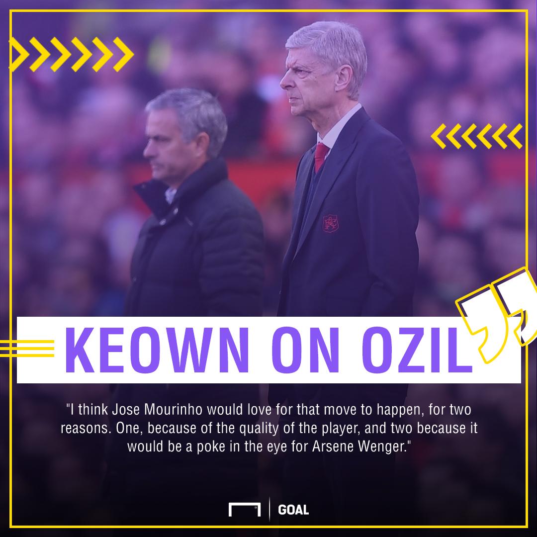 Martin Keown Jose Mourinho Arsene Wenger Mesut Ozil transfer