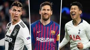 Cristiano Ronaldo, Lionel Messi, Heung-min Son split