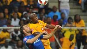 Siphosakhe Ntiya-Ntiya and Bradley Grobler - SuperSport United v Kaizer Chiefs