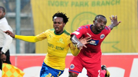 Percy Tau, Mamelodi Sundowns & Richard Kissi Boateng, SuperSport United