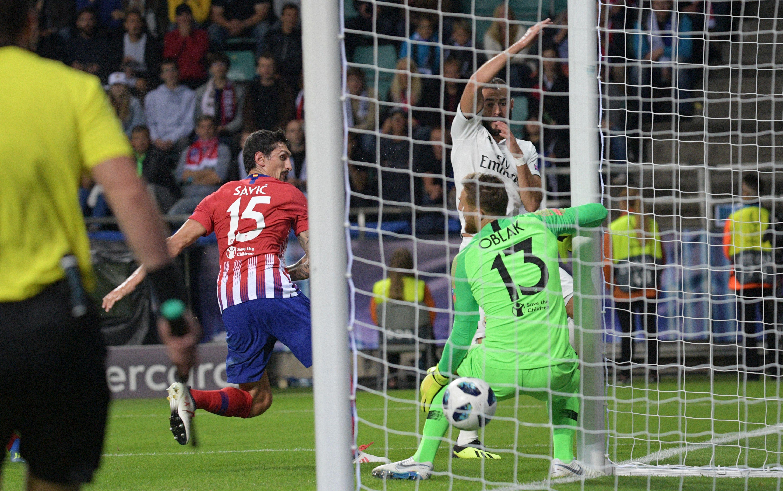 Karim Benzema goal Real Madrid Atletico Madrid UEFA Super Cup 2018