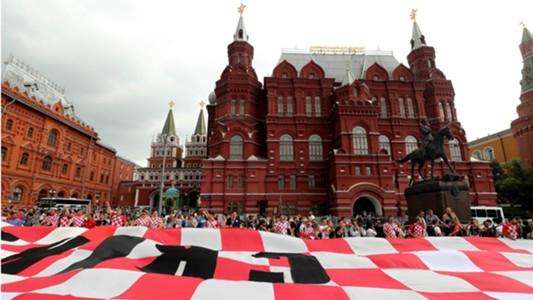 Croatia fans Moscow WC 2018