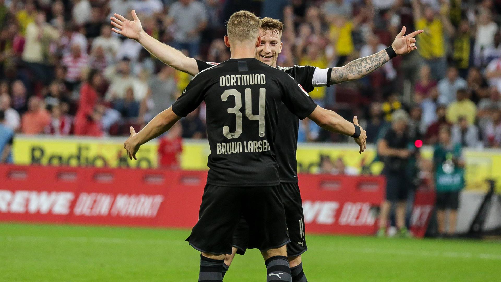 GERMANY ONLY Bruun Larsen Reus Borussia Dortmund BVB