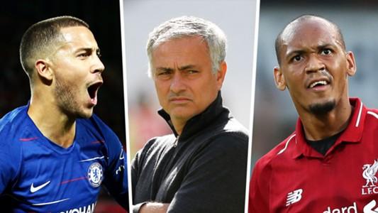 Eden Hazard, Jose Mourinho, Fabinho