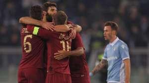 Roma celebrating vs Lazio