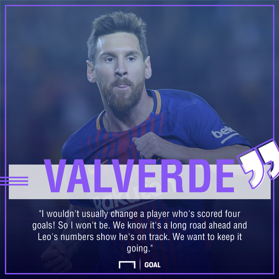Ernesto Valverde Lionel Messi Barcelona no rest